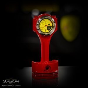 Ferrari Rosso Corsa Red Piston Clock by The Supercar Store