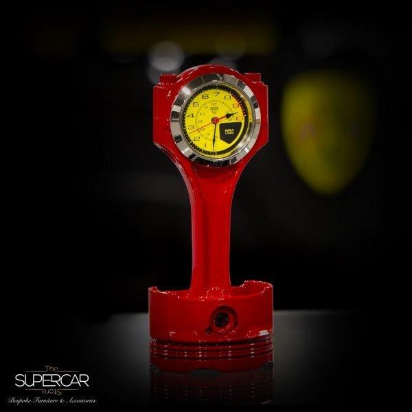 Ferrari Rosso Corsa Red Piston Clock by The Supercar Store