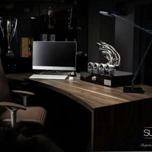 Motorsport Executive Desk with Exhaust Speaker by The Supercar Store