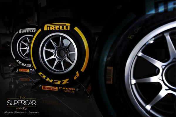 Pirelli F1 Wheel on Display Stand