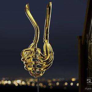 Williams Formula 1 Exhaust Sculpture 24ct Gold